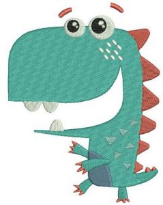 Walking dinosaur embroidery design