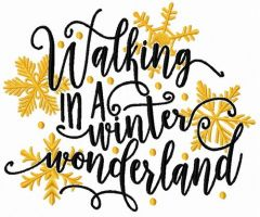 Walking in a winter wonderland embroidery design