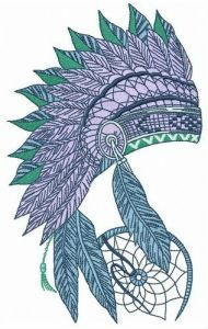 Warbonnet and dreamcatcher embroidery design