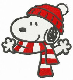 Warm winter set for Snoopy embroidery design