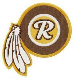 Washington Redskins logo 3 embroidery design