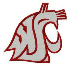 Washington State Cougars alternative logo embroidery design