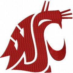 Washington State Cougars embroidery design