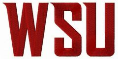 Washington State Cougars wordmark logo embroidery design