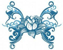 Water lily 3 embroidery design