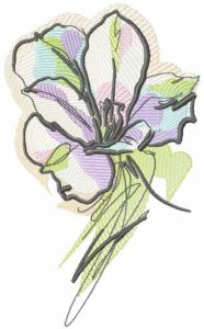 Water color flower embroidery design