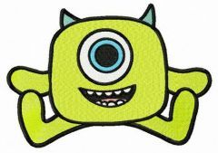 Wazowski toy embroidery design