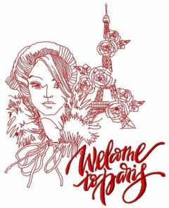 Welcome to Paris 2 embroidery design