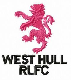 West Hull A.R.L.F.C. logo embroidery design
