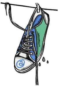 Wet gumshoes 4 embroidery design