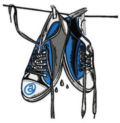 Wet gumshoes embroidery design