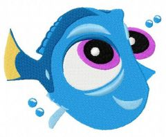 What would Dory do? 2 embroidery design