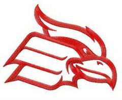 Wheeling Cardinals alternative logo embroidery design