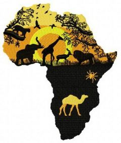 Wild Africa 2 embroidery design