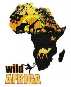 Wild Africa embroidery design