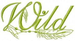 Wild 2 embroidery design