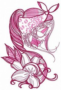 Wild lily 2 embroidery design