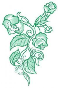 Wild poppies 2 embroidery design