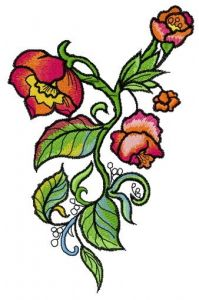 Wild poppies embroidery design