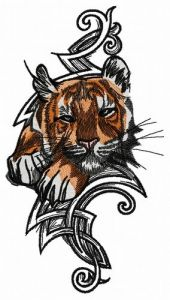 Wild tiger 2 embroidery design