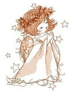 Windy heaven embroidery design