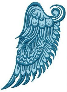 Wing embroidery design