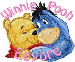 Eeyore and Winnie Pooh 3 embroidery design