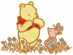 Winnie Pooh and Piglet classic 2 embroidery design