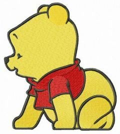 Winnie the Pooh crawling embroidery design