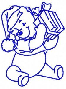 Winnie's present 4 embroidery design
