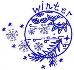 Winter 2 embroidery design