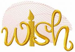Wish embroidery design