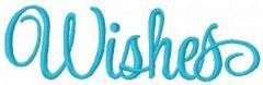 Wishes embroidery design