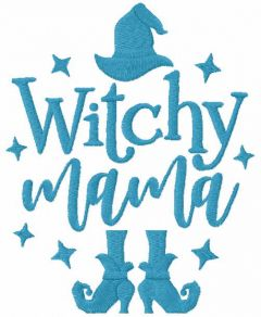 Witchy mama embroidery design