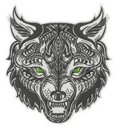 Wolfish grin 2 embroidery design