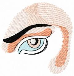 Woman eye 2 embroidery design