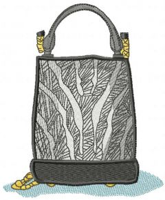 Women's fashion bag embroidery design