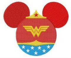 Wonder Minnie embroidery design