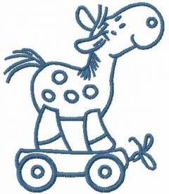 Wooden toy horse free embroidery design 2