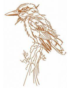 Woodpecker embroidery design