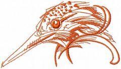 Woodpecker's head embroidery design