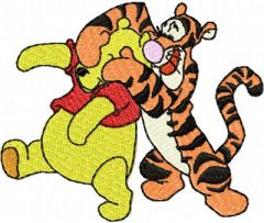 Winnie Pooh and Tigger 2 embroidery design