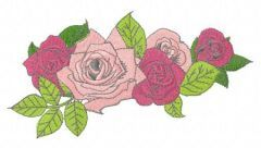Wreath of roses embroidery design