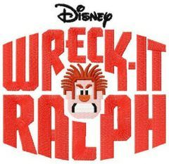 Wreck-It Ralph logo embroidery design