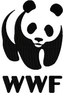 WWF logo embroidery design