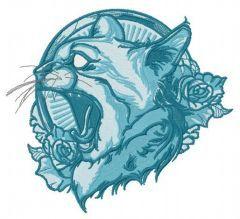 Cat spirit blue gamma embroidery design