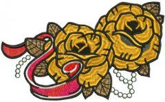Yellow roses embroidery design