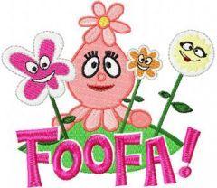 Foofa embroidery design