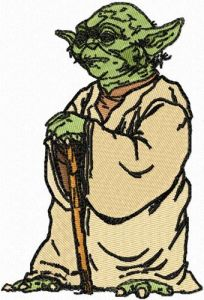 Star Wars Yoda 2 embroidery design