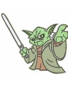 Yoda 7 embroidery design